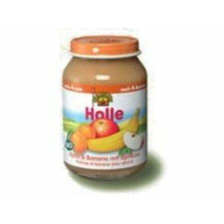 Holle bio bébiétel, alma-banán-sárgabarack 190 gr