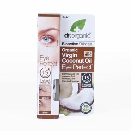Dr. Organic Szemkörnyék feszesitő szérum bio szűz kókuszolajjal