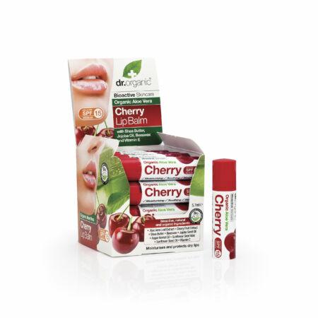 Dr. Organic Ajakbalzsam bioaktív Aloe verával és cseresznyével • 5,7 ml