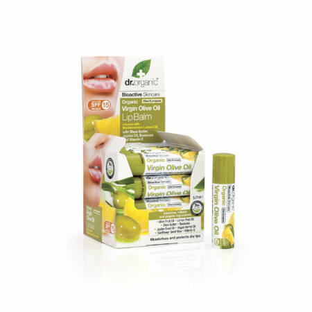 Dr. Organic Ajakbalzsam bioaktív olívaolajjal • 5,7 ml