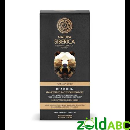 Natura Siberica Ébresztő/Frissítő arclemosó gél férfiaknak, 150ml