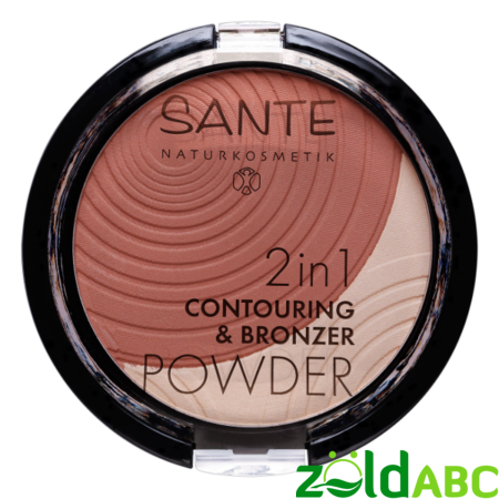 Sante 2in1 kontúr & bronzosító púder-01 light medium-9g