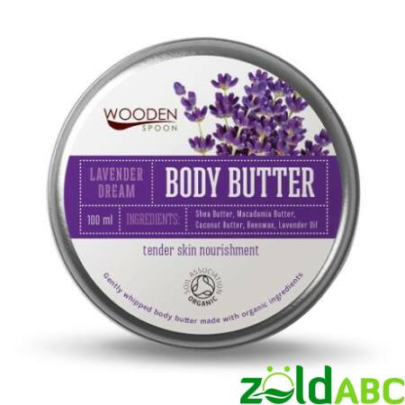 Wooden Spoon Bio Testápoló vaj-Levendula álom, 100 ml