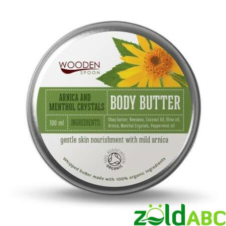 Wooden Spoon Bio Testápoló vaj-Mentolos kristály, 100 ml