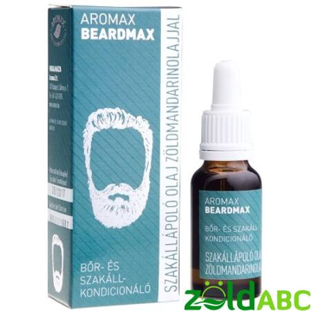 Aromax Beardmax Szakállápoló olaj Zöldmandarinnal, 20ml
