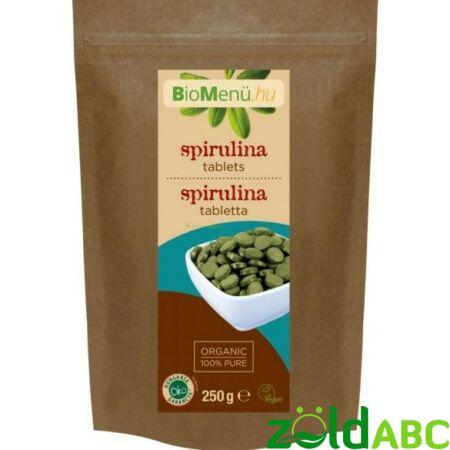 Bio Spirulina tabletta, BioMenü, 250g