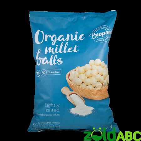 Bio extrudált kölesgolyó enyhén sós, 100 g