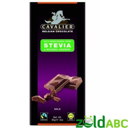 CAVALIER Tejcsokoládé stevia, 40g, 85g