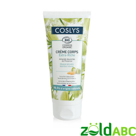 Coslys bio extra gazdag testápoló édes mandulával 200ml