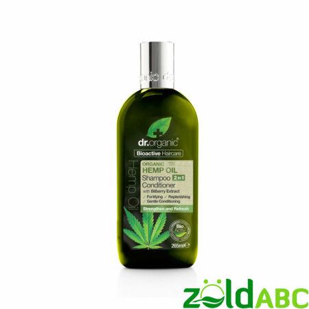 Dr. Organic 2 az 1-ben Sampon és hajkondícionáló bioaktív kendermagolajjal