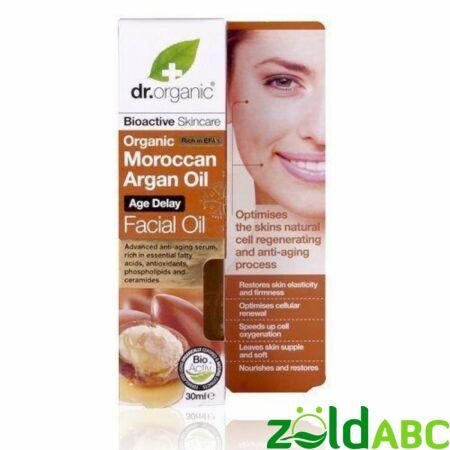 Dr Organic Öregedésgátló arcápoló olaj marokkói bio argán olajjal, 30ml