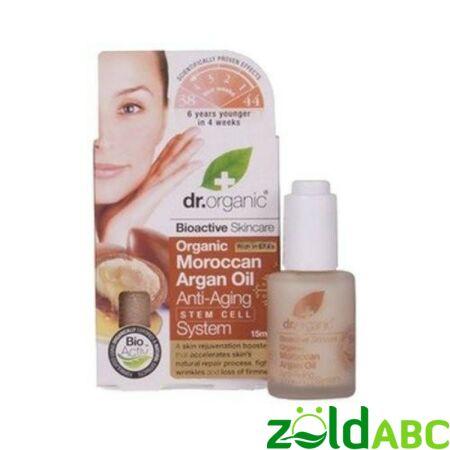 Dr Organic Öregedésgátló komplexum marokkói bio argánolajjal és argán őssejtekkel, 30ml