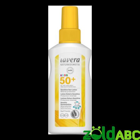 lavera SUN gyermek napvédő spray SPF50, 100ml