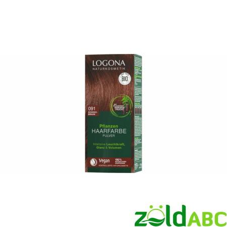 Logona Növényi hajfesték por - Csokoládébarna, 100gr