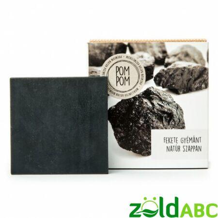 PomPom Fekete gyémánt natúr szappan, 100g