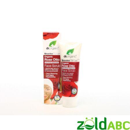 Dr Organic Bio Damaszkuszi Rózsa Arcradír 125 ml
