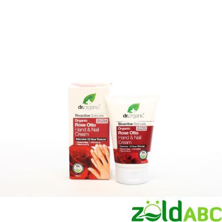 Dr Organic Bio Damaszkuszi Rózsa Kéz- és körömápoló krém 125 ml