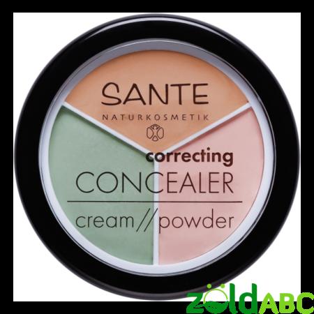 Sante 3 színű krémpúder korrektor problémás bőrre - Tökéletes fedés, 6g