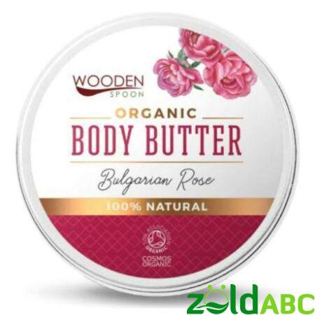 Wooden Spoon Bio Testápoló vaj-Rózsás kényeztetés, 100 ml